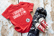 Load image into Gallery viewer, I Survived Snovid 21 Funny Shirt Youth
