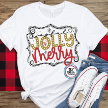 Load image into Gallery viewer, Joyful Jolly Merry Holiday Christmas Mom Shirt Bella Canvas Adult Shirt