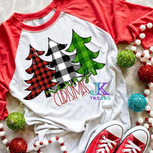 Load image into Gallery viewer, Merry Christmas Tree Next Level Raglan