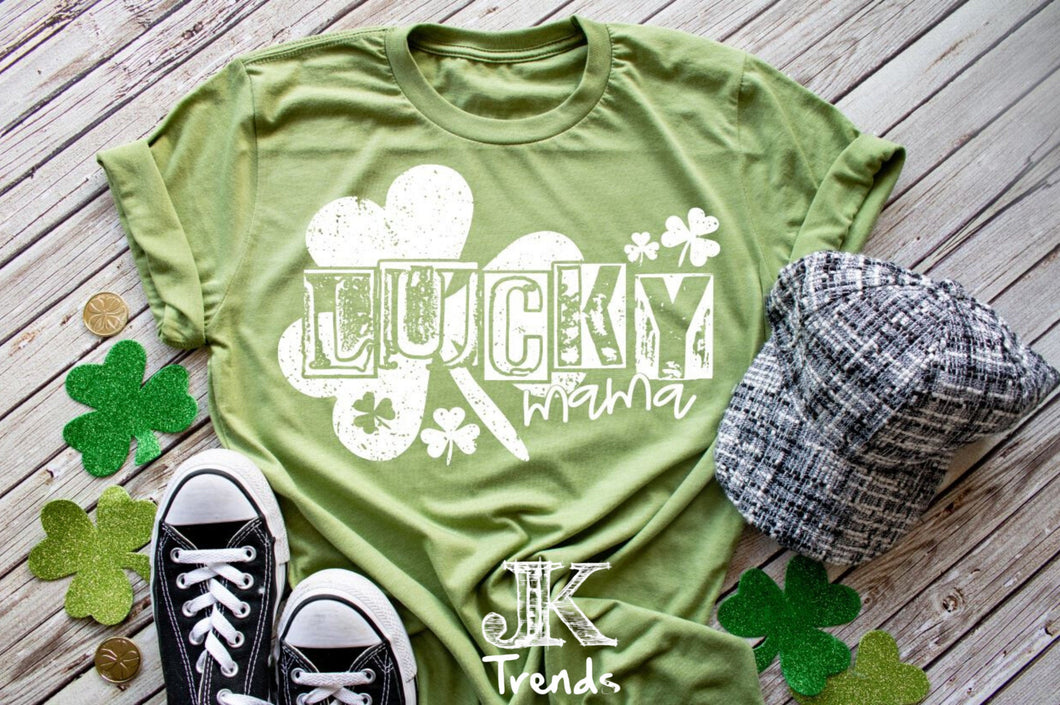 St Patrick's Day Lucky Mama shirt
