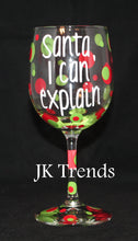 Load image into Gallery viewer, Custom Holiday Wine Glass - Christmas - Friends and Family - Gift - Party - Celebration - Host/Hostess