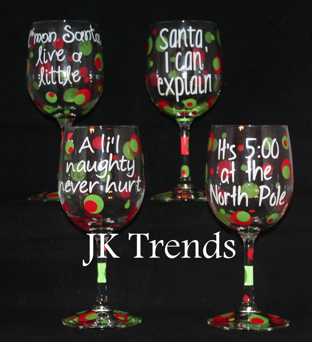Custom Holiday Wine Glass - Christmas - Friends and Family - Gift - Party - Celebration - Host/Hostess
