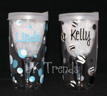 Load image into Gallery viewer, Personalized Wine Sippy Cup - Name - Birthday - Party - Celebration - Gift - Shower - Bachelorette - Girls/Women