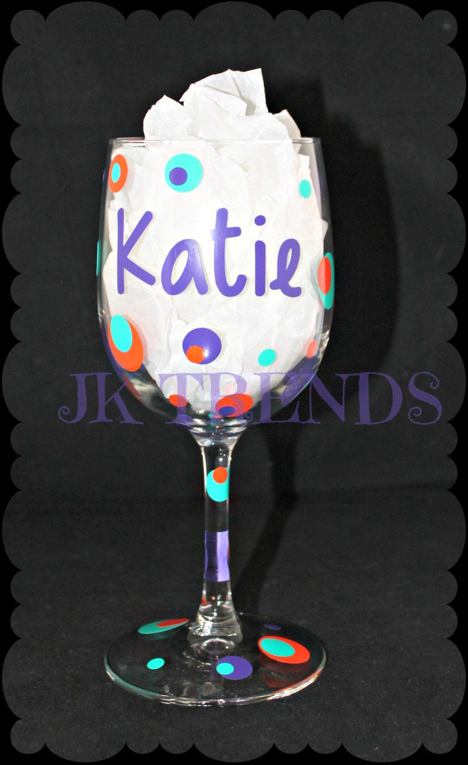 Personalized Wine Glass - Name - Birthday - Party - Celebration - Gift - Shower - Bachelorette - Girls/Women