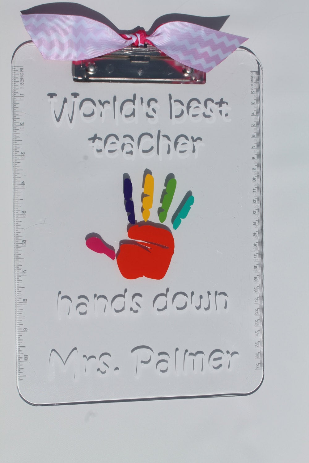Personalized Teacher Appreciation Clip Board -