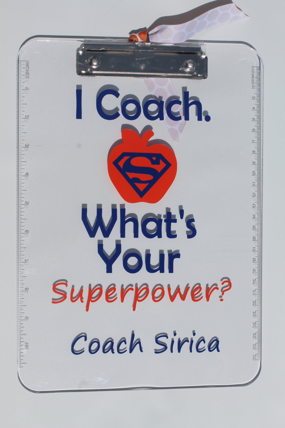 Personalized Coach Appreciation Clip Board -