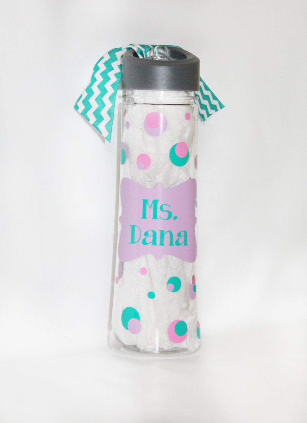 Personalized Plastic Water Bottle - 22 oz. - Framed Name - Appreciation - Thank You Gift - Travel - On-the-Go - Drink - Sports