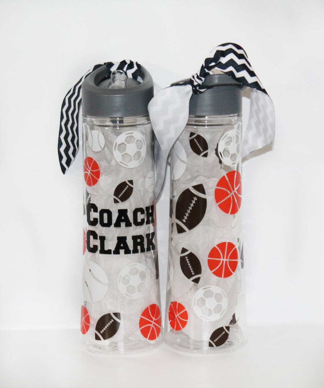 Personalized Sports Coach 22oz Plastic Waterbottle - Thank You Gift - Appreciation - End of Year - Football - Basketball - Travel - Drink