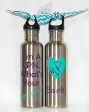 "Load image into Gallery viewer, Personalized ""I'm a LPN, What's Your Superpower?"" Stainless Steel Water Bottle - Gift - Christmas - Birthday - Mother - Friend - Nurse"