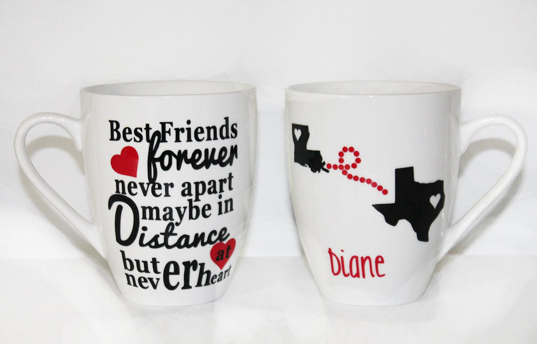 Never Apart Best Friend Personalized Mug - Gift - Birthday -