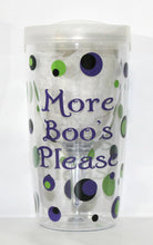 "Load image into Gallery viewer, Personalized Wine Sippy Cup - ""More Boo's Please - Halloween - Birthday - Party - Celebration - Gift - Girls - Women - Ghost - Themed"