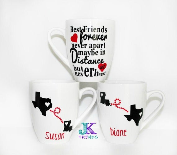 Personalized Ceramic Mug Set - Gift -