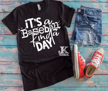 Load image into Gallery viewer, It's a Baseball Kinda Day Baseball Bella Canvas Crew Neck