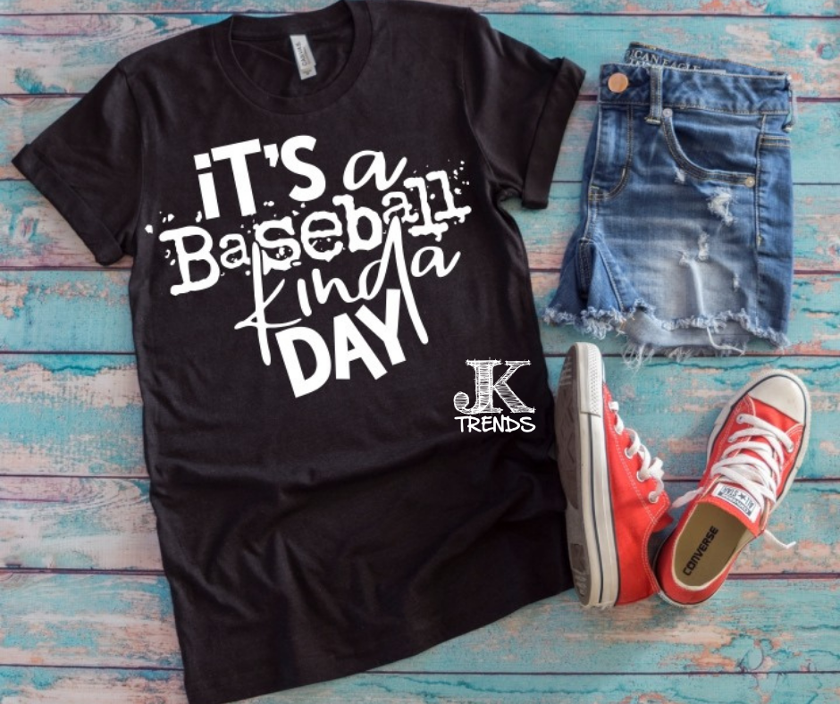 It's a Baseball Kinda Day Baseball Bella Canvas Crew Neck