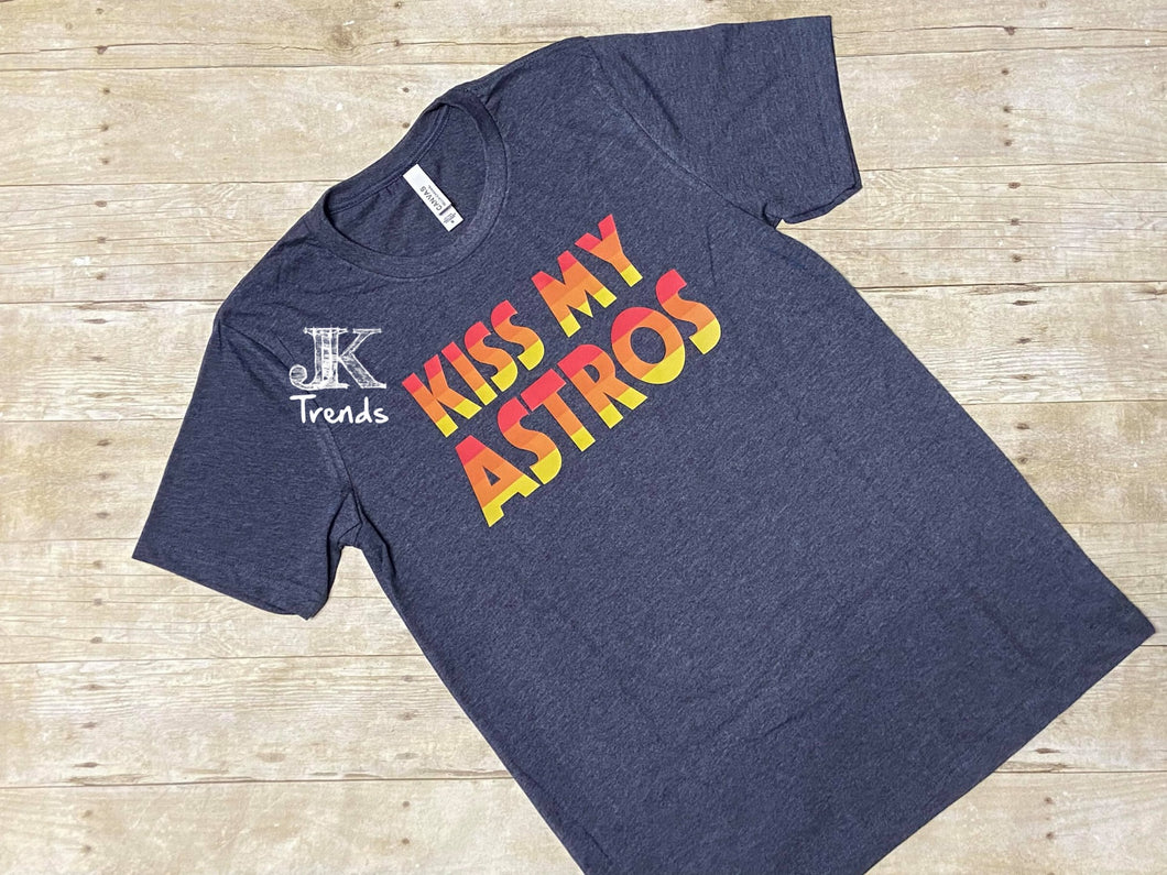 Kiss My Astros crew neck T-shirt