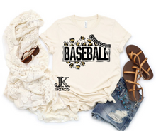 Load image into Gallery viewer, Leopard Baseball Baseball Bella Canvas Crew Neck
