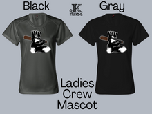 Load image into Gallery viewer, Blacksox Mascot Ladies Crew Neck Shirt