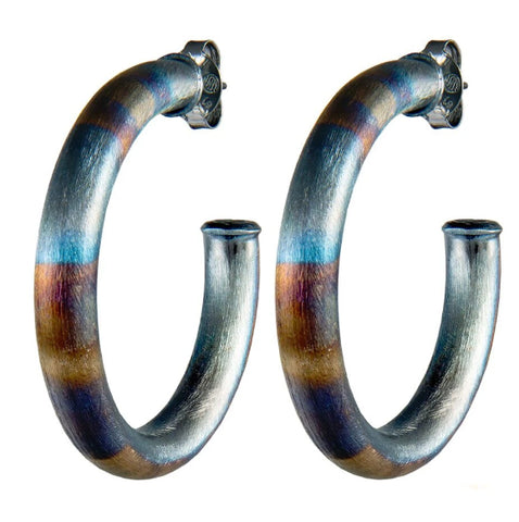 Sheila Fajl Chantal Hoops -Burnished Gunmetal
