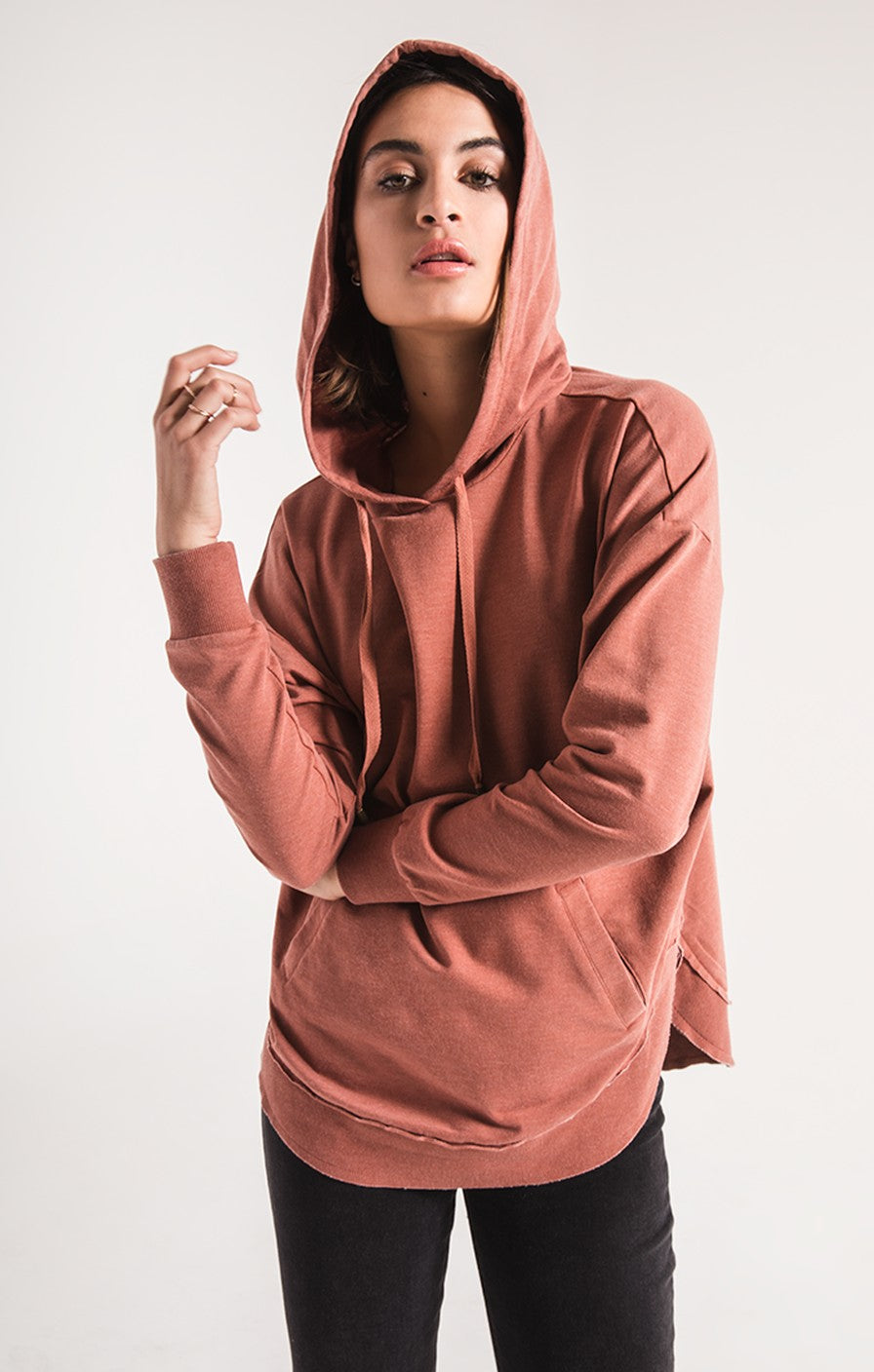 Z Supply The Dakota Pullover -Clay