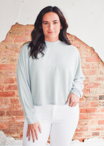 Dolman Sleeve Oversized Top -Mint