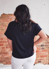 Z Supply Alda Dolman Tee -Black