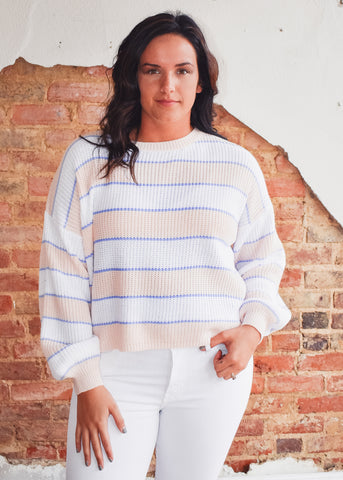 Alden Sweater -Milkshake Stripe