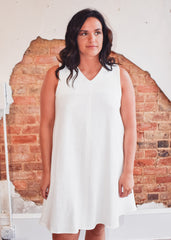 Tank Swing Dress -White