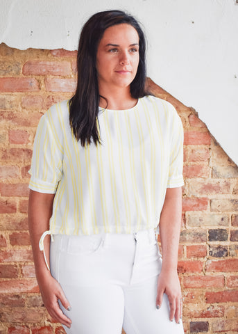 Corina Top -Yellow Stripe