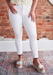 Unpublished Olivia High Waist Skinny -Blanc