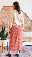 Kerr Atlantic Lily Skirt -Rust Cheetah