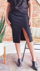 Free People Skyline Midi- Black