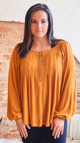 Free People Devin Top- Brown