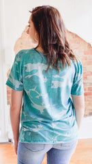 Z Supply Tourist Tee -Ocean Blue