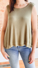 Free People New Love Tank -Moss
