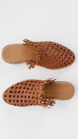 Free People Mirage Woven Flat- Brown