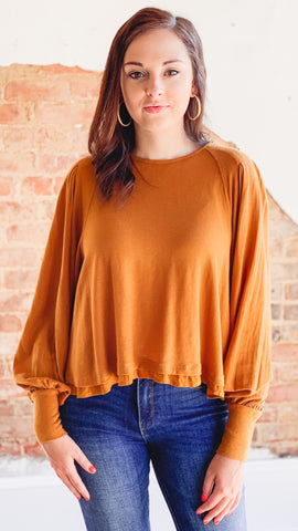 Free People Billie Tee- Brown