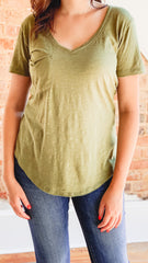 Z Supply The Airy Pocket Tee- Capulet Olive