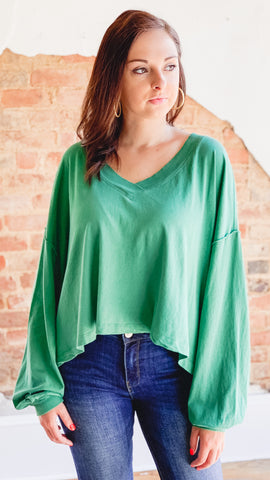 Free People Buffy Tee- Green