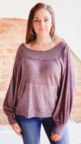 Free People Westend Thermal -Wine