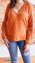 Z Supply Wide Wale Corduroy Pullover- Warm Wood