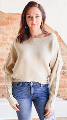 Scarlet Slouchy Top- Cream