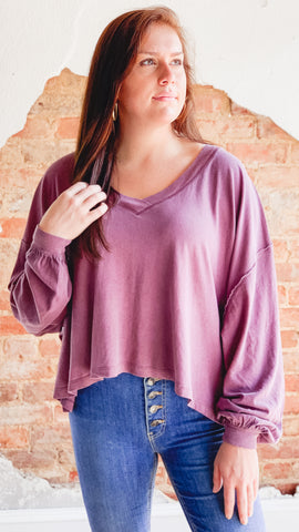 Free People Buffy Tee- Purple
