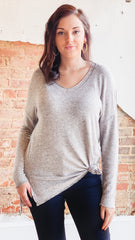 Z Supply Marled Sweater Tunic- Mushroom
