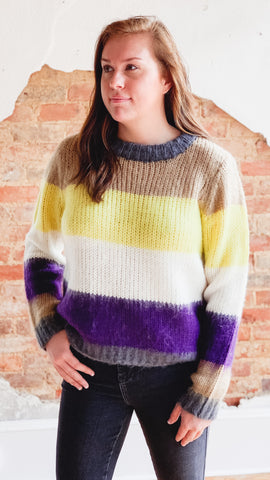 Colorblock Sweater -Sunny Lime
