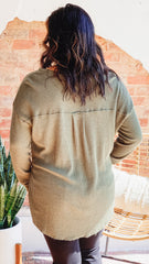 Z Supply Waffle Thermal Tunic Top -Rosin