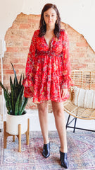 Free People Closer To The Heart Dress -Red