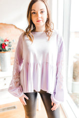 Free People Penny Tee -Lilac