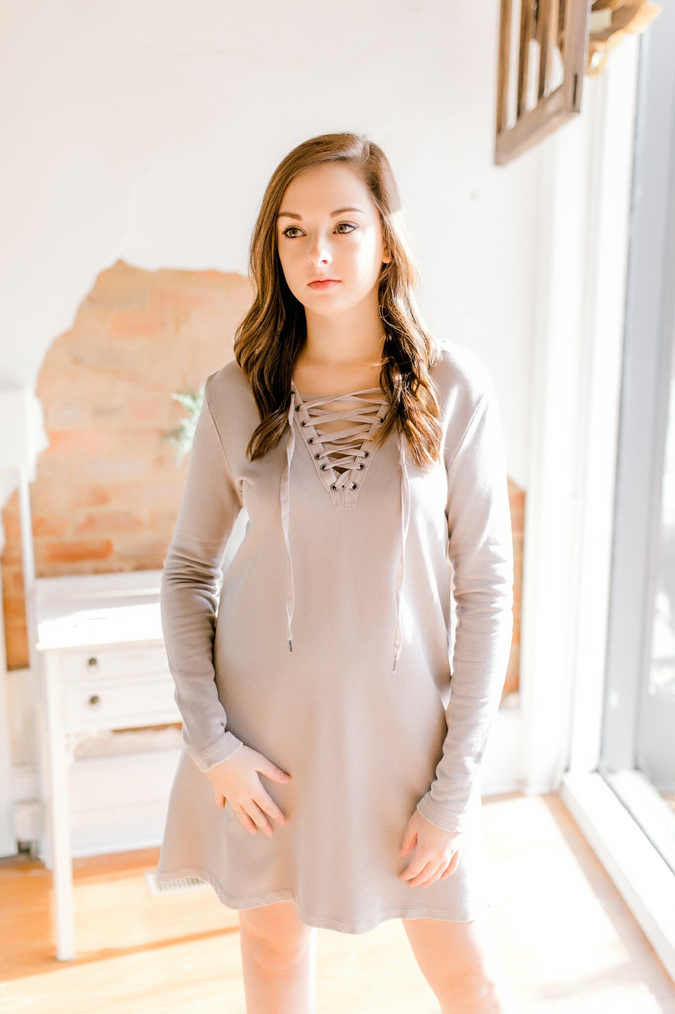 Andie Dress -Steel Oat