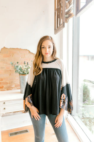 Free People Friday Fever Top -Black