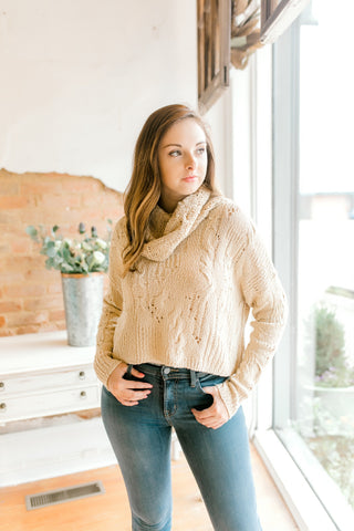 Free People Shades of Dawn Pullover -Ivory